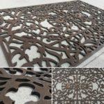 Забор ограждение секция из металла художественная резка