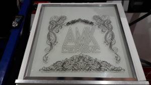 рисование на стекле на станке чпу АМК Сервис